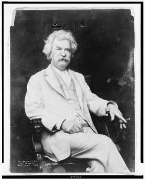 Mark Twain, 1907. Library of Congress
