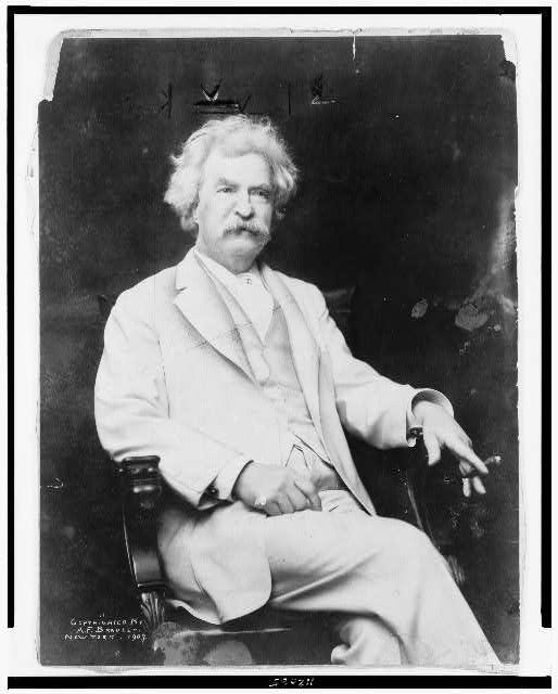 Mark Twain, 1907. Library of Congress