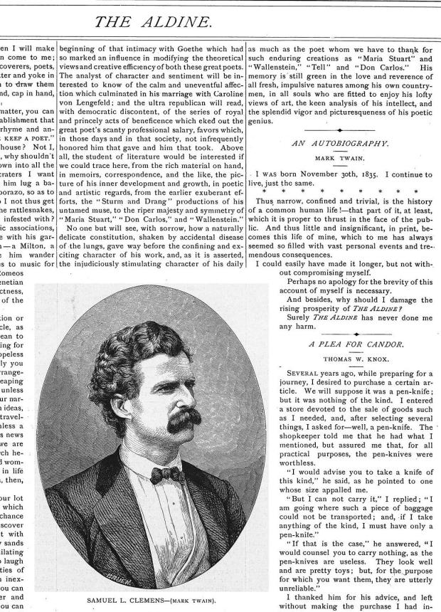 The Aldine _ Vol. 4, No. 4 _ April 1871 _ p. 58 _ An Autobiography Mark Twain0002