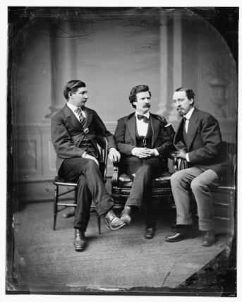 L-R, Townsend, Twain, [David] Gray