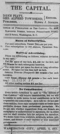 The Capital _ April 2, 1871 _ Masthead