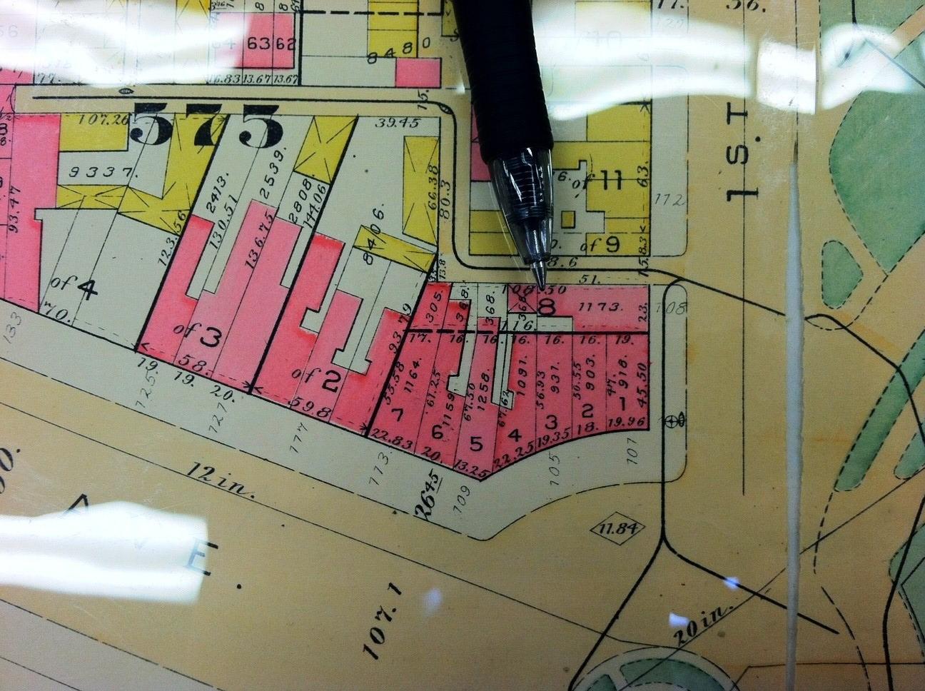 1892 Baist Map Vol 1 Plate 43 Old Curiosity Shop 105