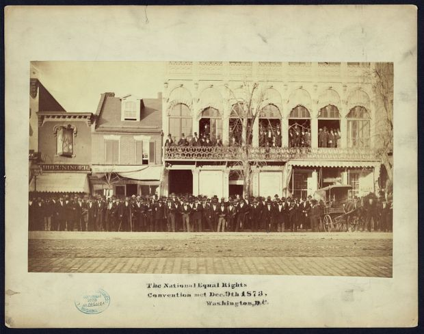 (Library of Congress) -Metzerott Hall _ The National Equal Rights Convention, which met Dec. 9th, 1873, Washington, D.C.
