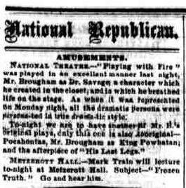 NR., January 09, 1868, Image 3 _ Announcement of Lecture at Metzerott Hall _ crop