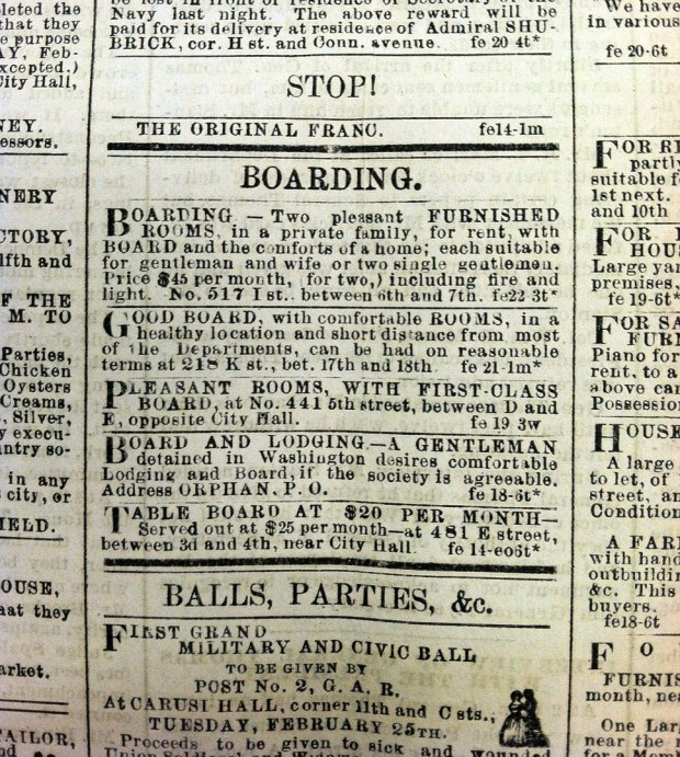 ES_ 22 Feb 1868 _ p. 2 _ Boarding Ads