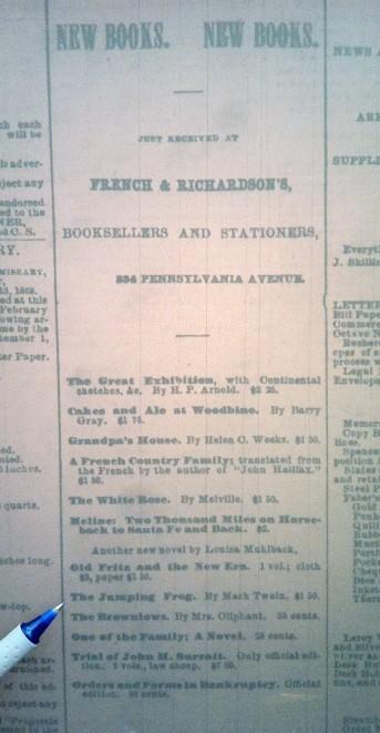 Chronicle, 18 Feb, 1868, p. 3.